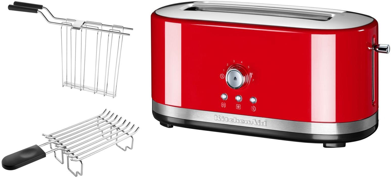 KitchenAid® manueller Langschlitztoaster 5KMT4116EER, empire rot