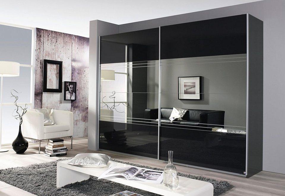 Schwebetürenschrank spiegel schwarz  Places of Style Schwebetürenschrank mit Spiegel | OTTO