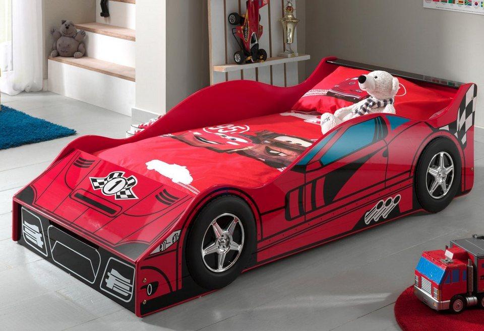 Vipack Rennwagenbett in rot