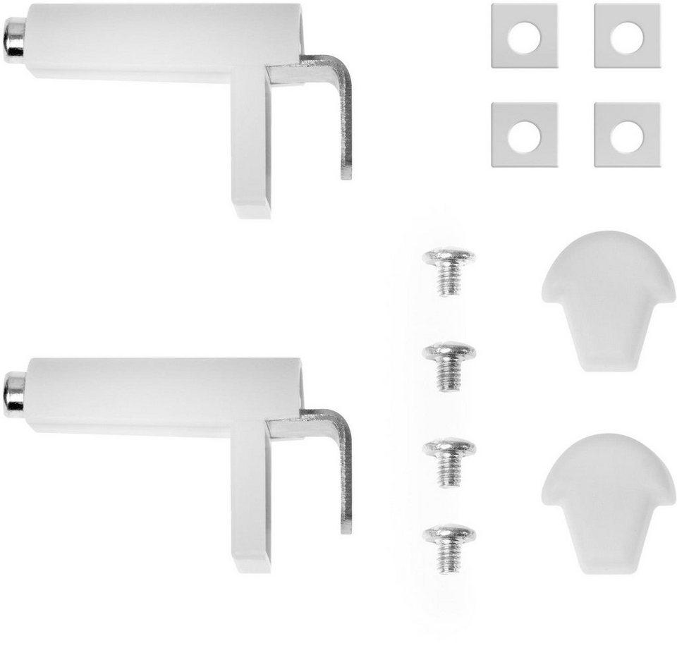 Klemmträger, Lichtblick, »Klemmfix«, für Klebfix Rollo mit Kassette (2 Stück) in weiß
