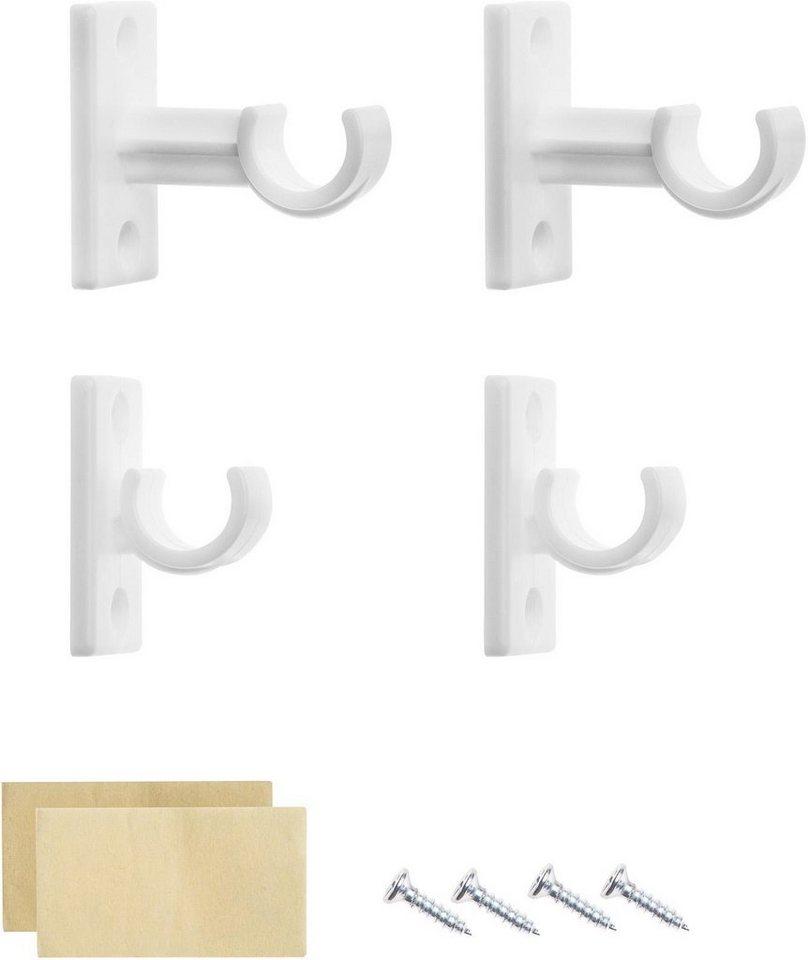 Träger, Lichtblick, für Cafehausstange (4 Stück) in weiß