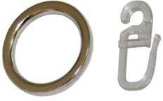Gardinenring, GARESA, Gardinen, (Set, 20-St., mit Faltenlegehaken), innen Ø 25 mm, außen Ø 35 mm