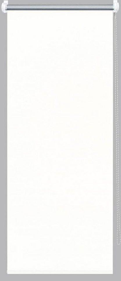 Seitenzugrollo, Good Life, »Alicia«, im Fixmaß, Verdunkelung/Energiesparend (1 Stck.) in weiß - silber
