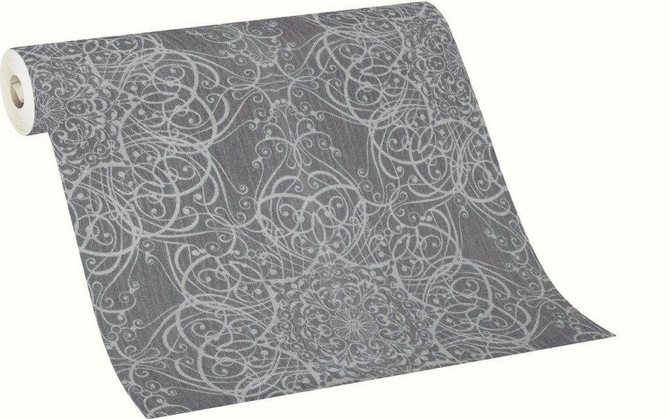 Vliestapete, Guido Maria Kretschmer Tapeten, »Glamorous Ornament« in dunkelgrau-silber