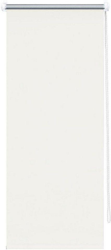 Seitenzugrollo, Good Life, »Alicia«, im Fixmaß, Verdunkelung/Energiesparend (1 Stck.) in creme/silber