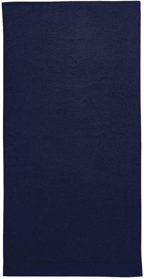 Badetuch, Seahorse, »Pure«, mit Strukturbordüre in blau