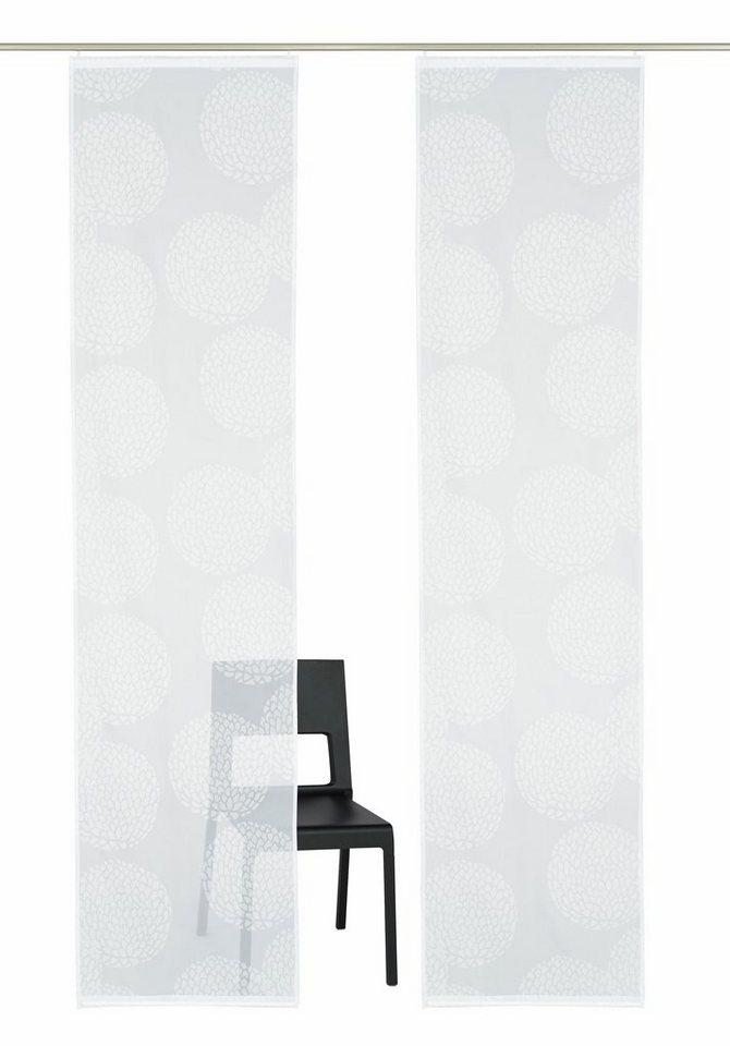 Schiebegardine, my home, »Belem« (2 Stück mit Zubehör) in weiß