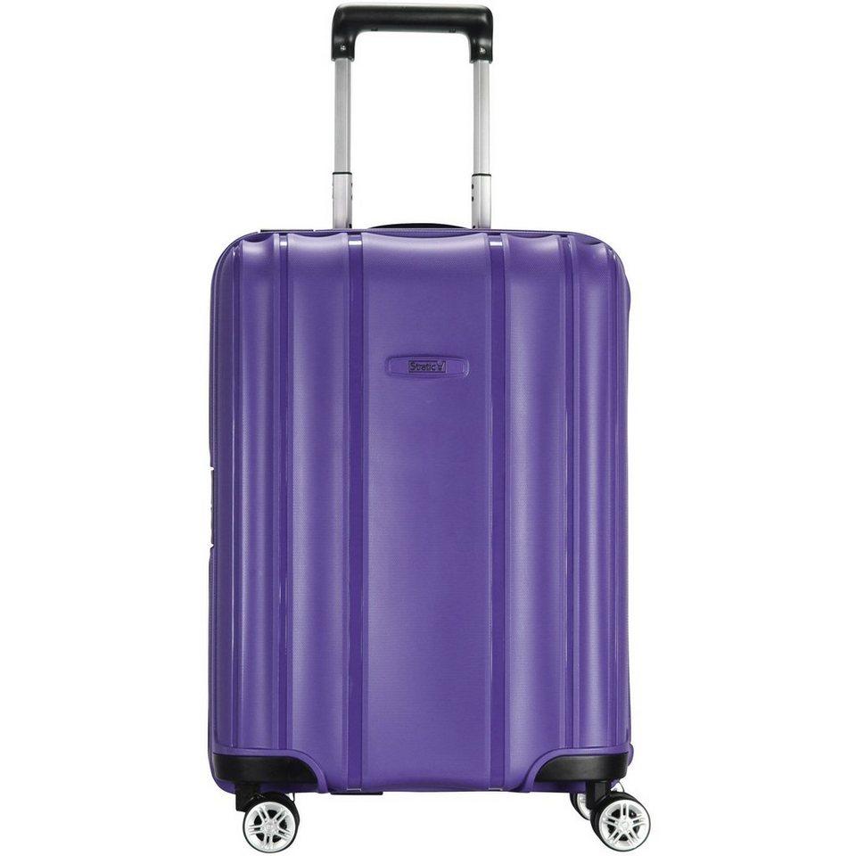 Stratic Safe 4-Rollen Kabinen-Trolley 55 cm in purple