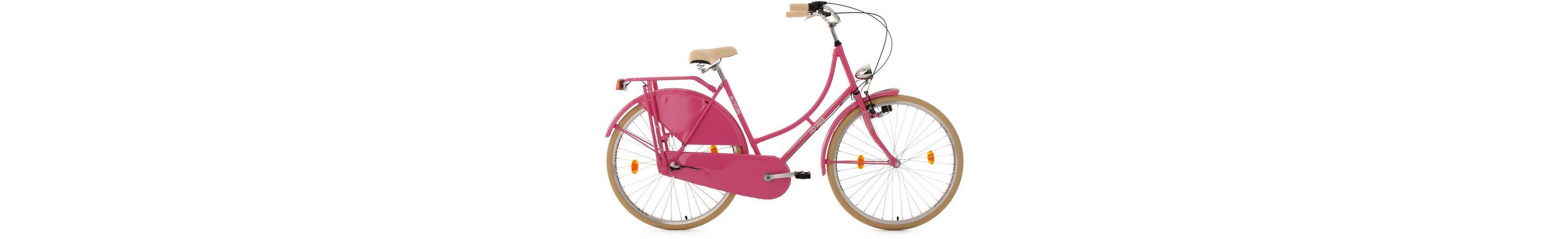 KS Cycling Hollandrad, 28 Zoll, pink, 3-Gang-Shimano-Nexus-Nabenschaltung, »Tussaud«