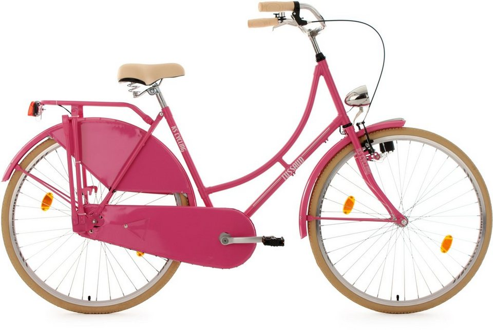 KS Cycling Hollandrad, 28 Zoll, pink, »Tussaud« in pink