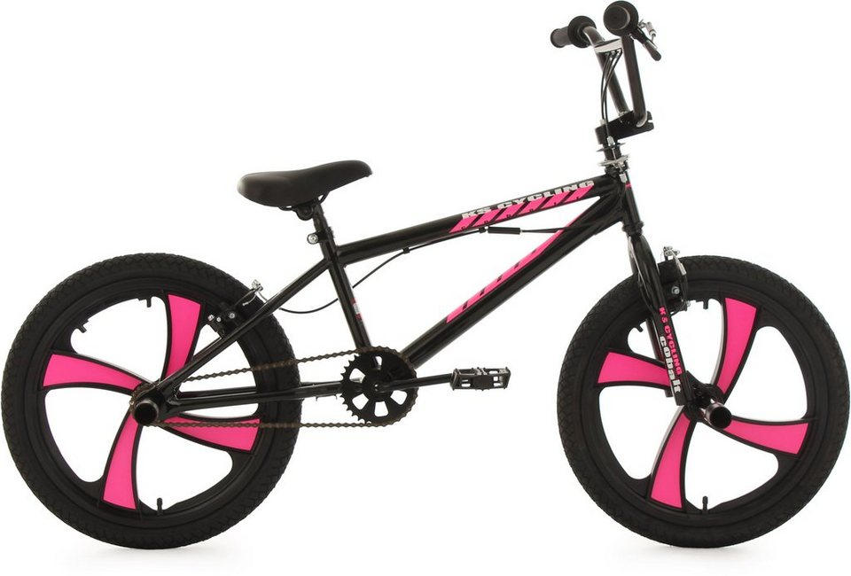 ks cycling bmx fahrrad 20 zoll schwarz pink cobalt. Black Bedroom Furniture Sets. Home Design Ideas