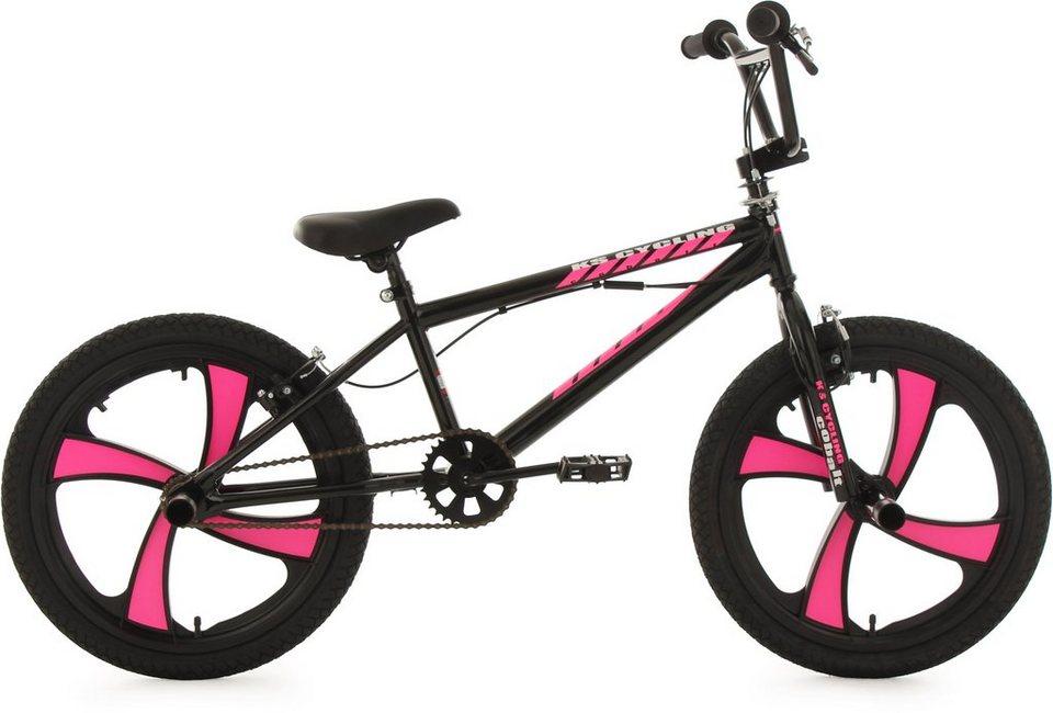 KS Cycling BMX Fahrrad, 20 Zoll, schwarz-pink, »Cobalt« in pink