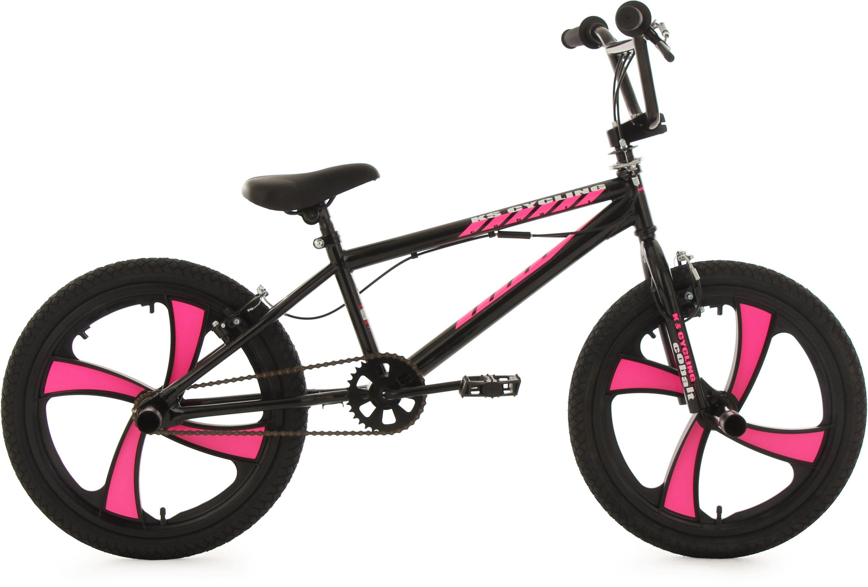 KS Cycling BMX Fahrrad, 20 Zoll, schwarz-pink, »Cobalt«