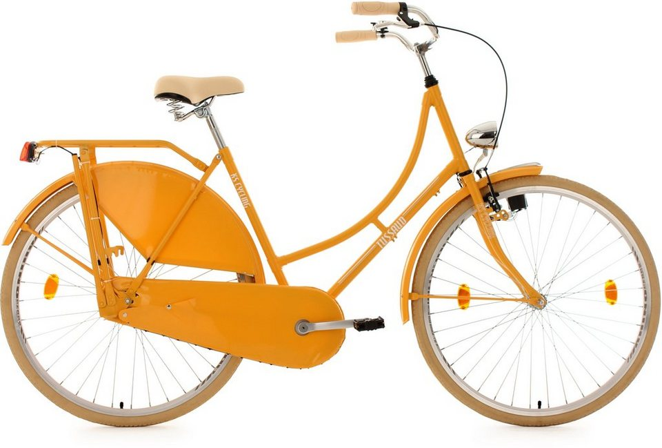 KS Cycling Hollandrad, 28 Zoll, gelb, »Tussaud« in gelb