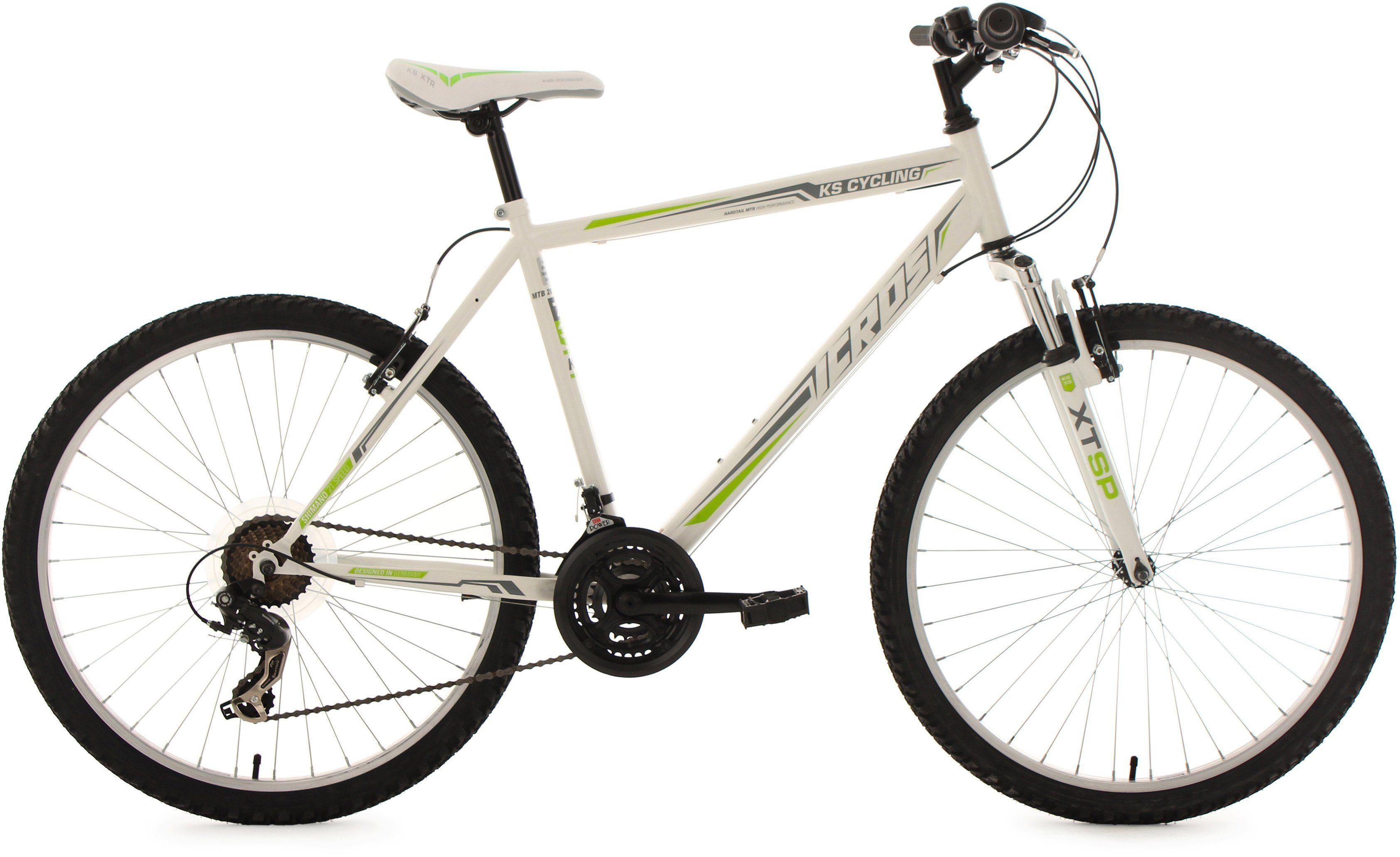 KS Cycling Hardtail-Mountainbike Herren, 26 Zoll, 21 Gang-Shimano Tourney Kettensch., »Icros«