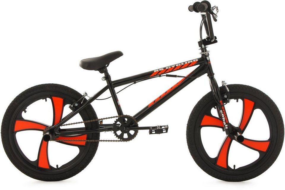 KS Cycling BMX Fahrrad, 20 Zoll, schwarz-rot, »Cobalt« in rot