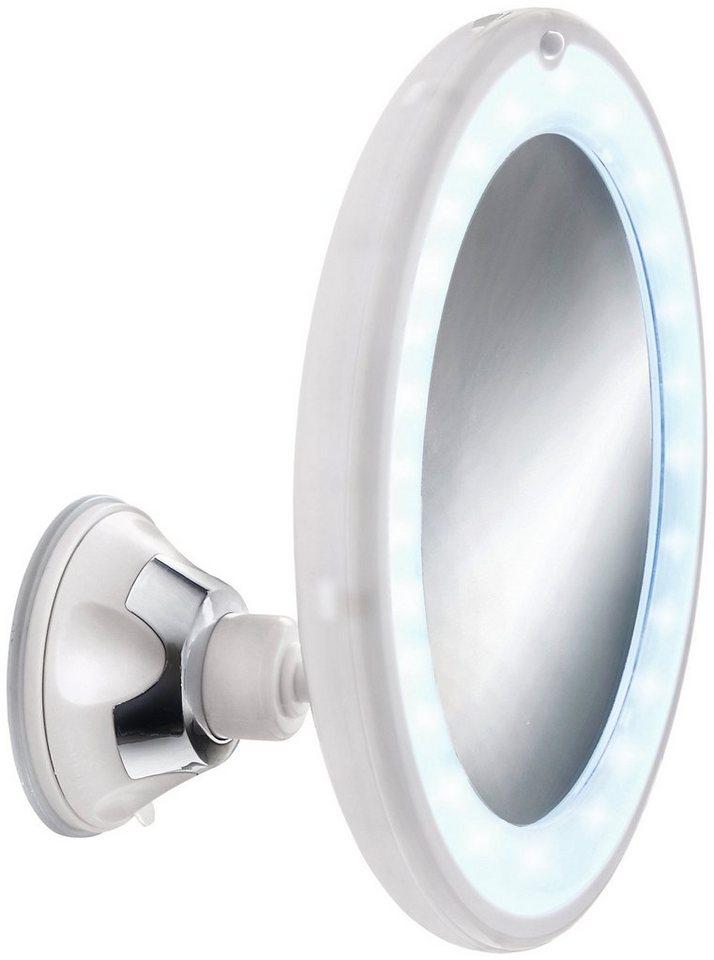 Spiegel / Kosmetikspiegel »Flexy Light« Breite 17,5 cm, mit Beleuchtung in schneeweiß