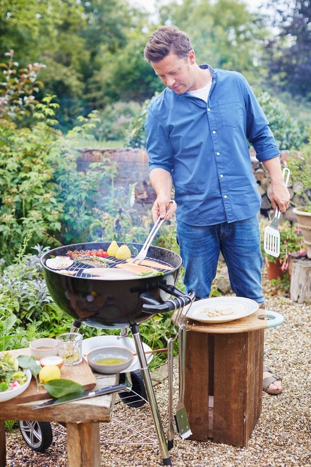 Holzkohlegrill »JAMIE OLIVER Classic One BBQ« inkl. XL Jamie Oliver Thermometer in schwarz