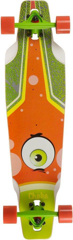 Choke Longboard, grün-orange, »Junior Eye Drop« in grün-orange