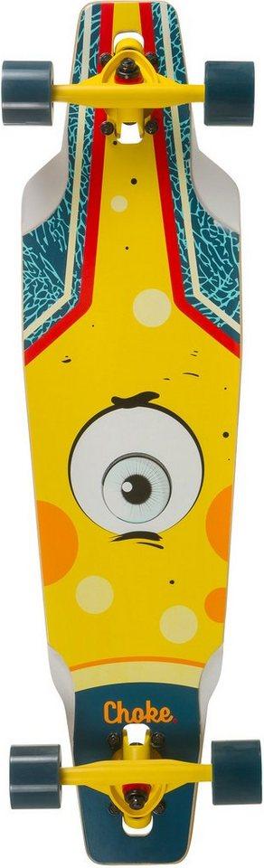 Choke Longboard, blau-gelb, »Junior Eye Drop« in blau-gelb