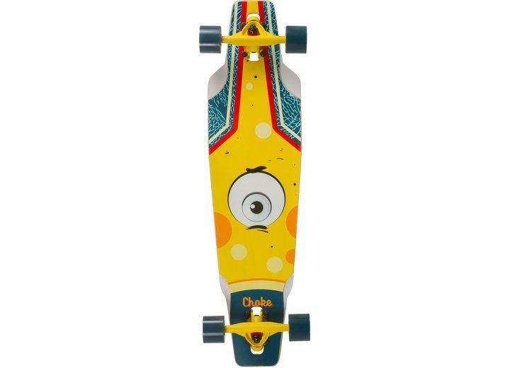Choke Longboard, blau-gelb, »Junior Eye Drop«