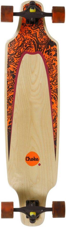 Choke Longboard, natur-orange-braun, »Turnover II Elite Topmount« in natur-orange-braun