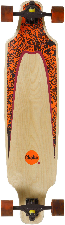 Choke Longboard, natur-orange-braun, »Turnover II Elite Topmount«