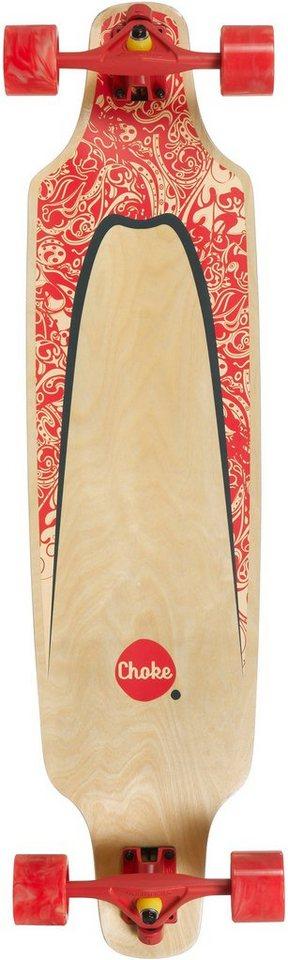 Choke Longboard, natur-rot-grün, »Turnover II Pro Topmount« in natur-rot-grün