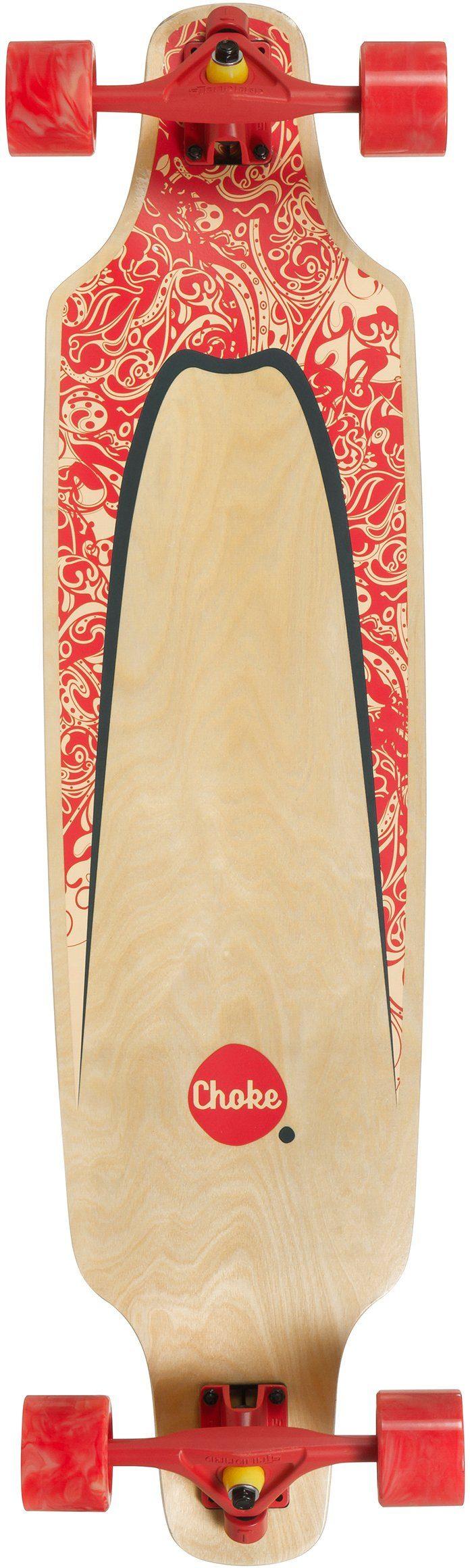 Choke Longboard, natur-rot-grün, »Turnover II Pro Topmount«