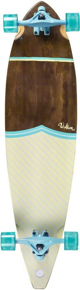 Volten Longboard, blau-braun-weiß, »Rennervate II Pintail« in blau-braun-weiß