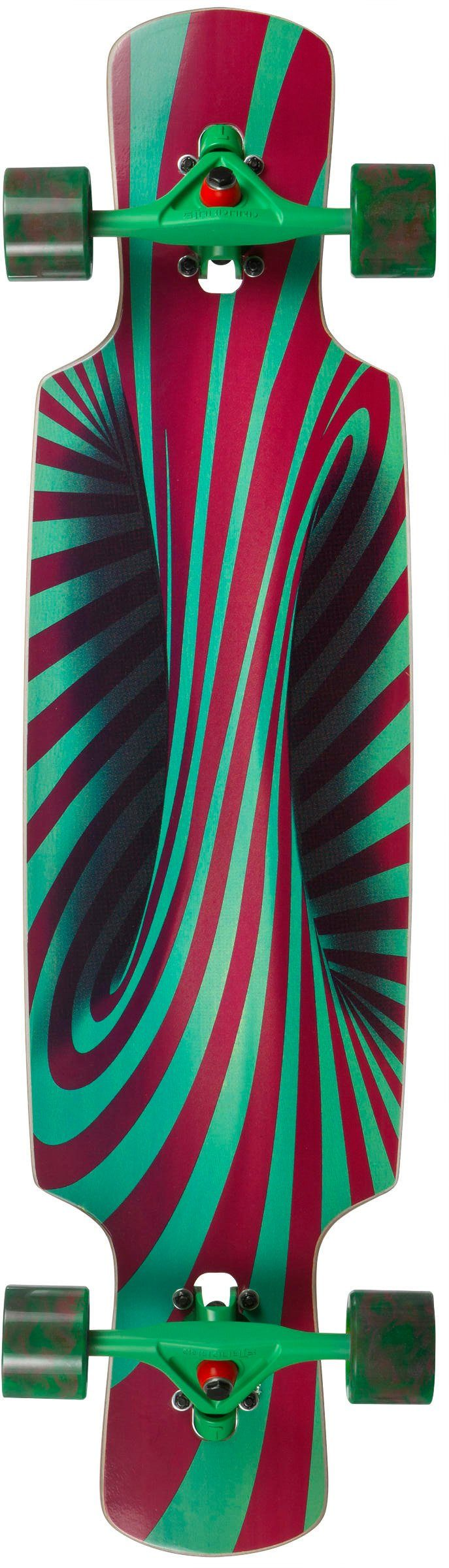 Choke Longboard, rot-grün, »Trick Lollipop Pro Dropthrough«