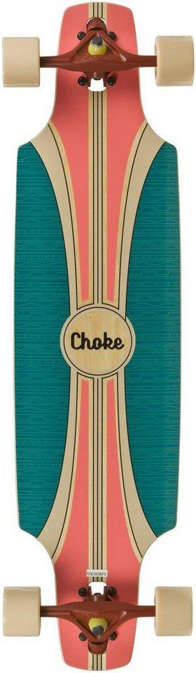 choke longboard t rkis orange tracer elite dropthrough. Black Bedroom Furniture Sets. Home Design Ideas