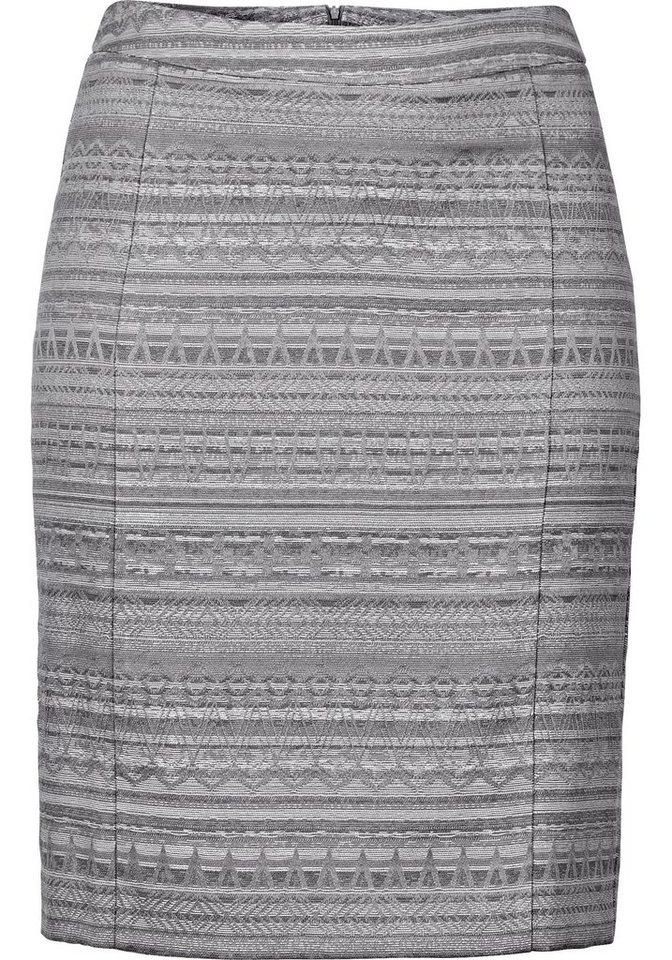sheego Style Rock in Bleistiftform in grau-offwhite