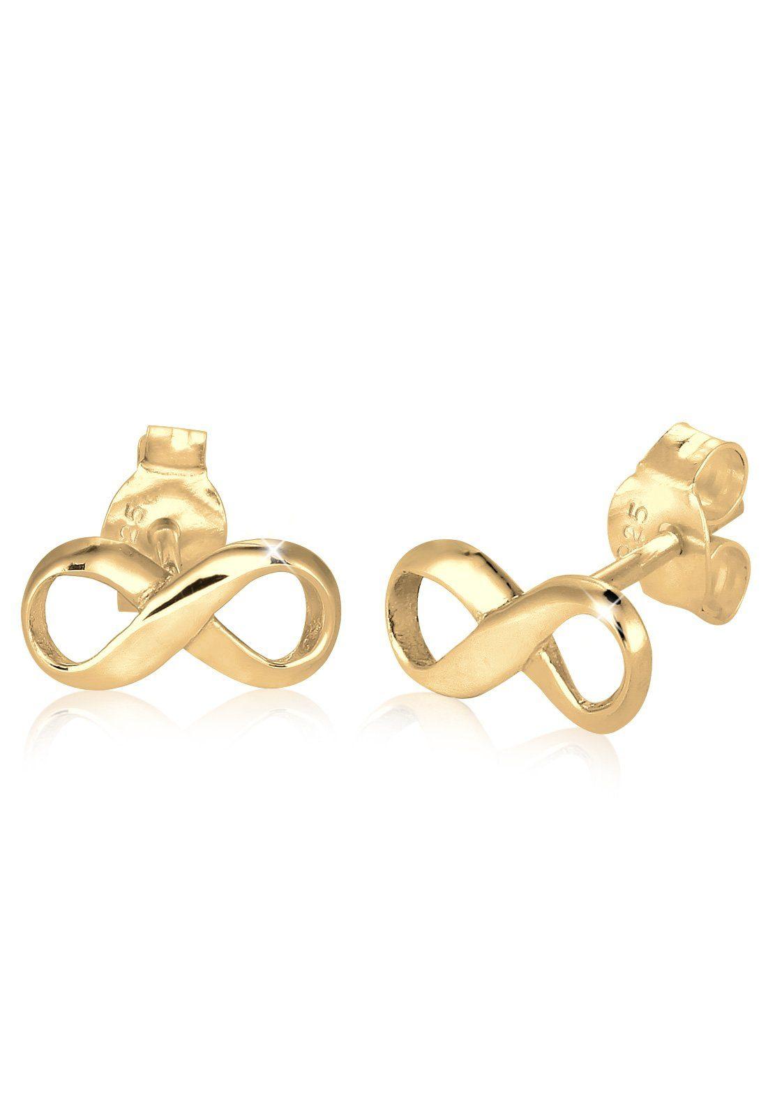 Elli Ohrringe »Infinity Unendlichkeit Symbol Liebe vergoldet«