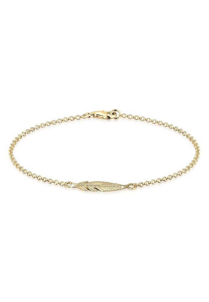 Elli Armband »Feder vergoldet« in Gold