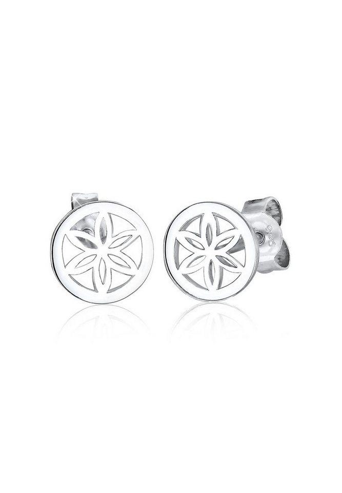 Elli Ohrringe »Blume Ornament 925 Silber« in Silber