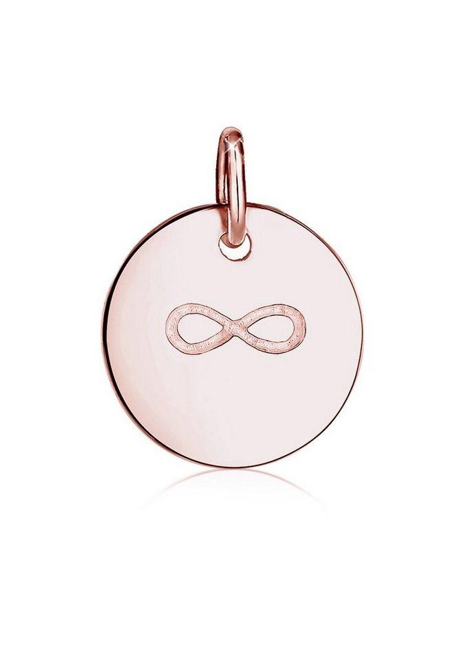 Elli Anhänger »Infinity Friends 925 Silber rosè vergoldet« in Rosegold