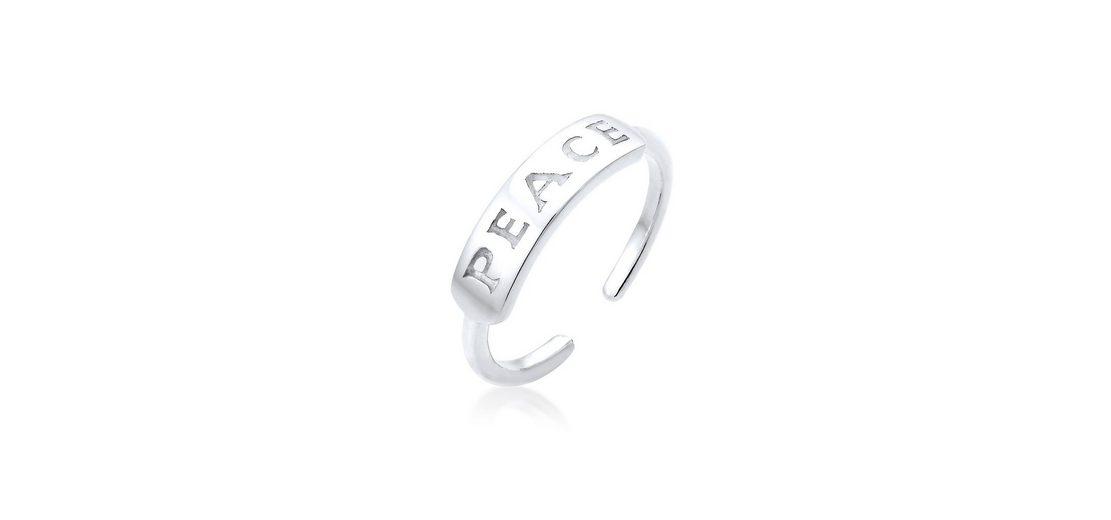 Elli Ring »Peace-Schriftzug Statement 925 Silber«