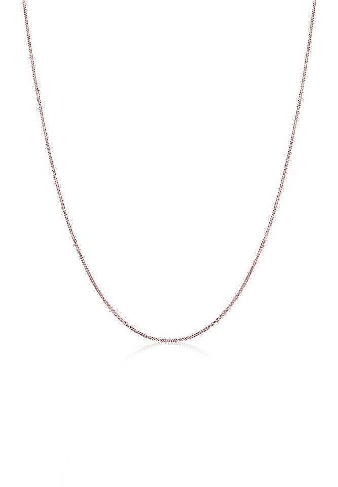 Elli Halskette »Fein Basic 925 Silber rosé vergoldet« in Rosegold