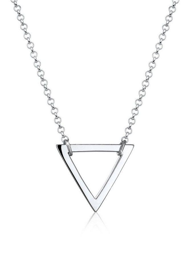 Elli Halskette »Dreieck Geo Minimal 925 Silber« in Silber