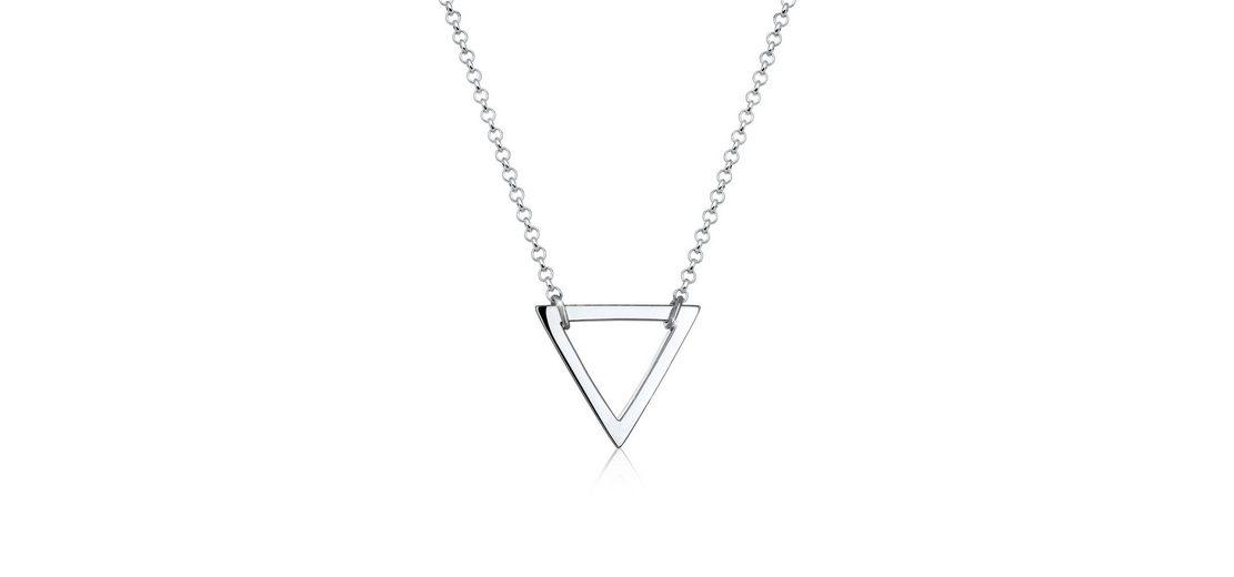Elli Halskette »Dreieck Geo Minimal 925 Silber«