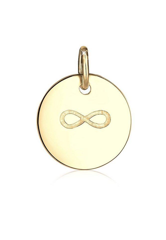 Elli Anhänger »Infinity Friends 925 Silber vergoldet« in Gold