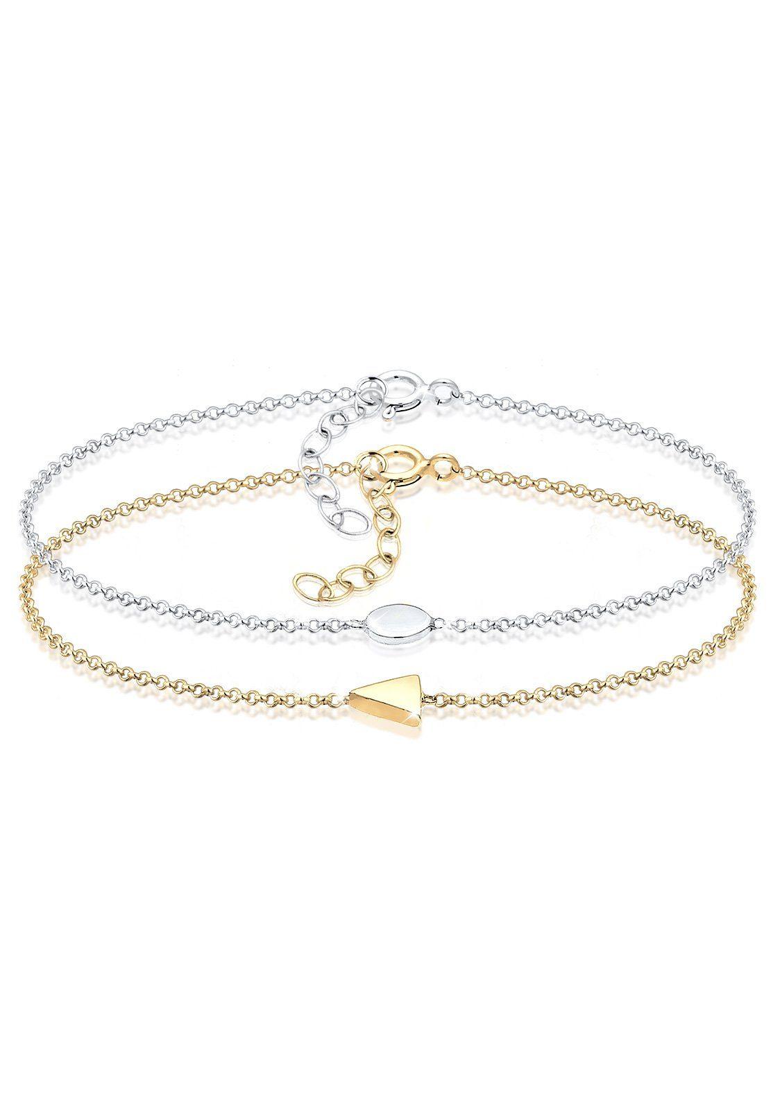 Elli Armband »Dreieck Kreis«