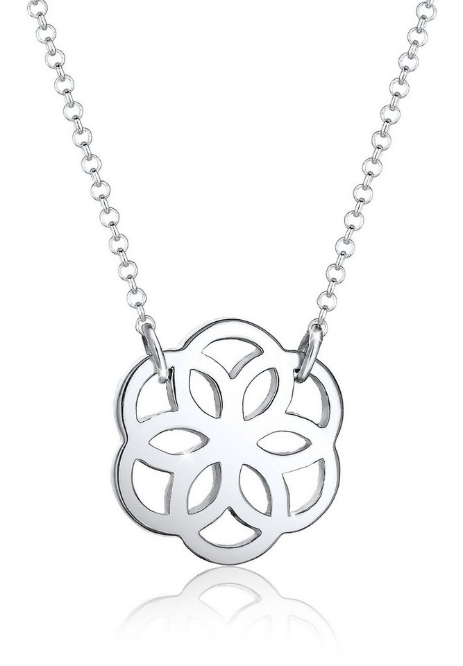 Elli Halskette »Blume Floral 925 Silber« in Silber