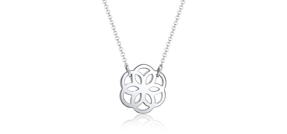 Elli Halskette »Blume Floral 925 Silber«