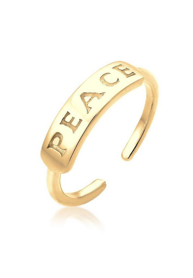 Elli Ring »Peace-Schriftzug Statement vergoldet« in Gold
