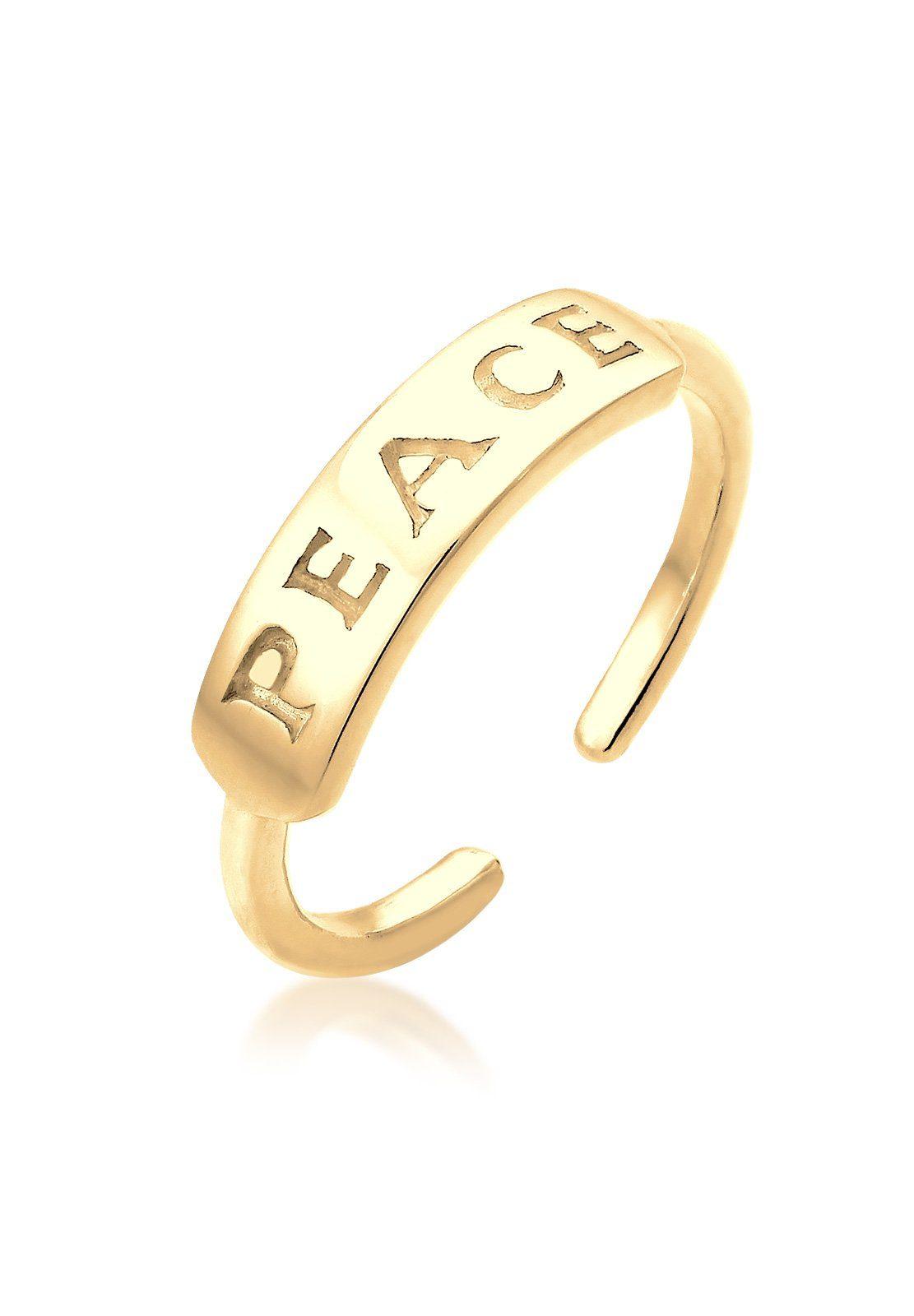 Elli Ring »Peace-Schriftzug Statement vergoldet«
