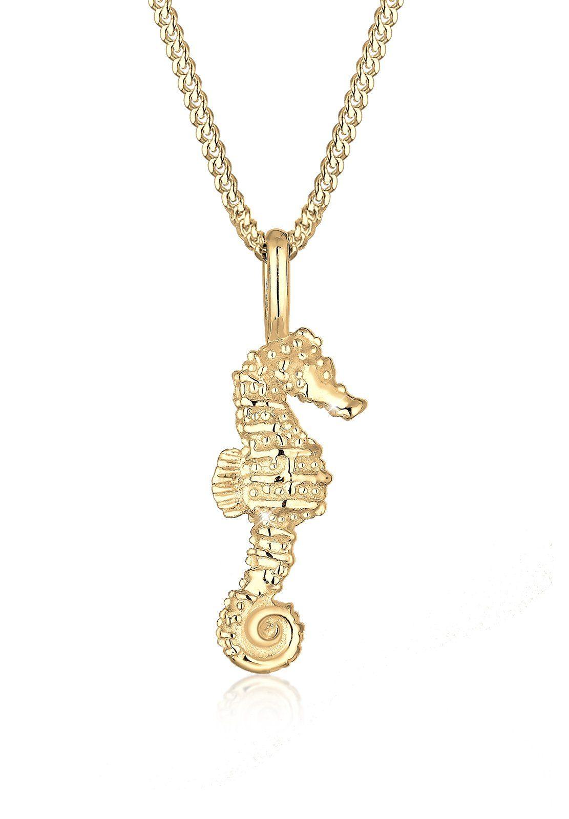 Elli Halskette »Seepferdchen Maritim 925 Silber vergoldet«