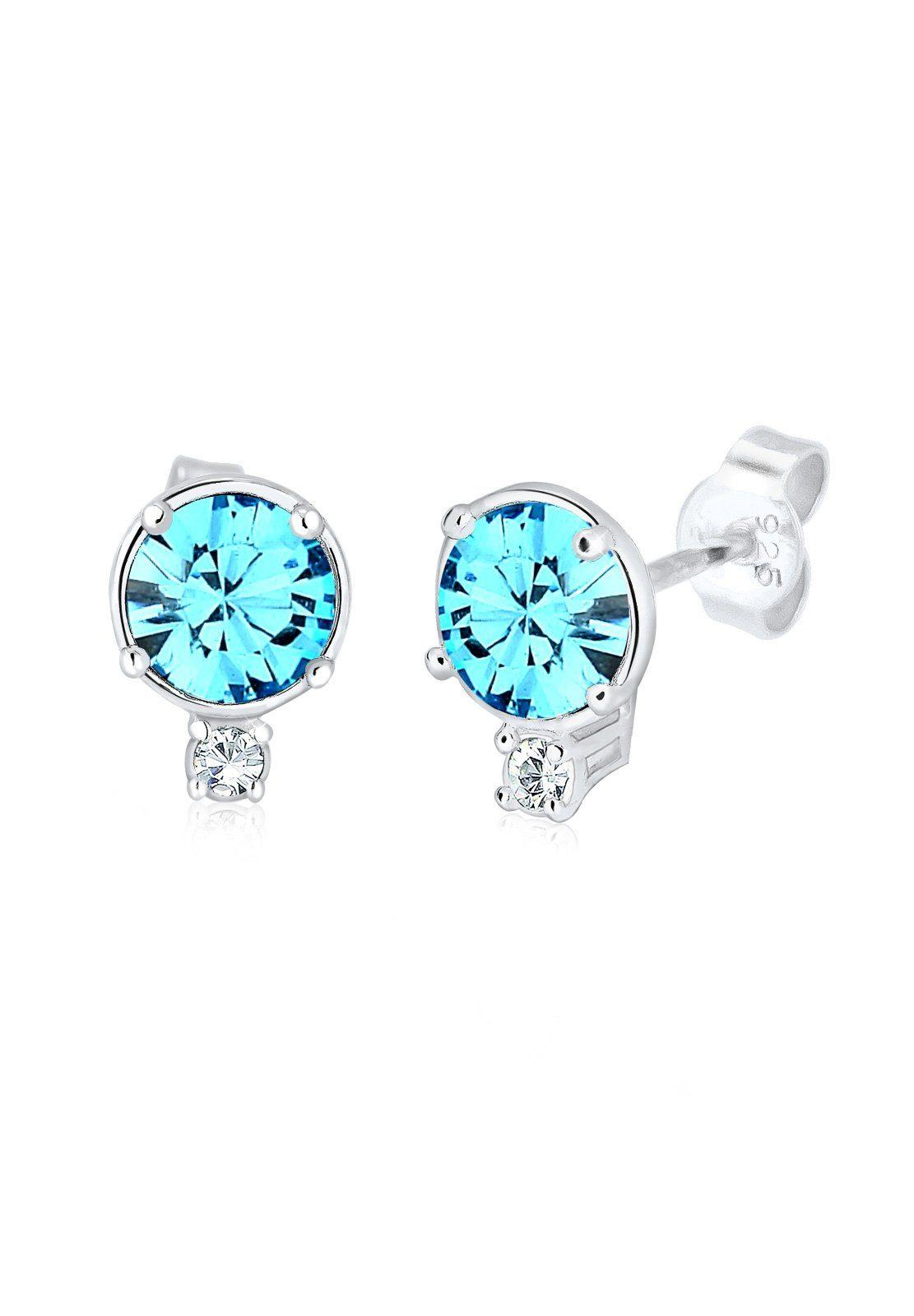 Elli Ohrringe »Swarovski® Kristalle Glamour Funkelnd Silber«