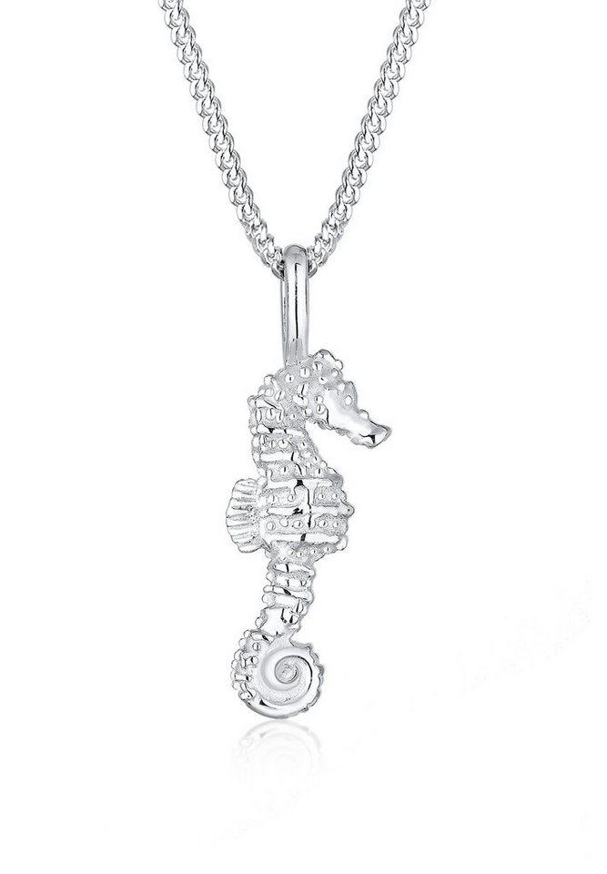 Elli Halskette »Seepferdchen Maritim 925 Silber« in Silber